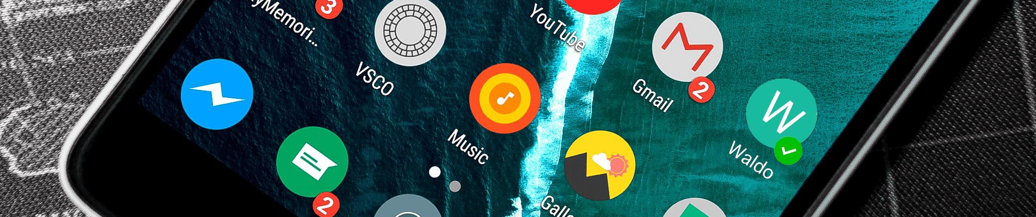 telefoonscherm met Waldo app